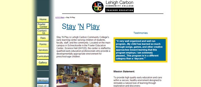 Lehigh Carbon Community College - Stay-n-Play